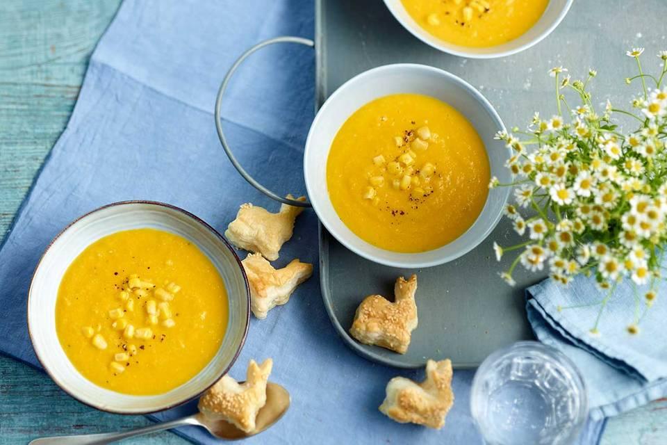 Möhren-Mais-Suppe Rezept