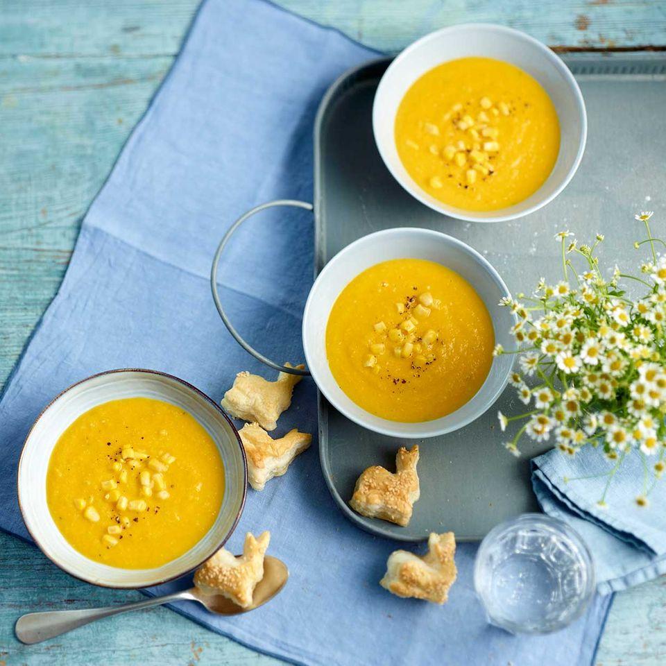 Möhren-Mais-Suppe