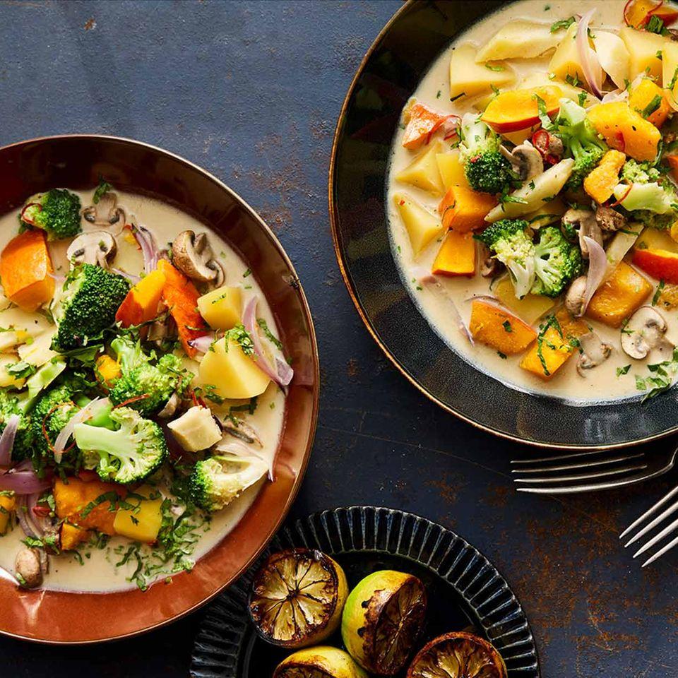Veganes Gemüse-Kokos-Curry