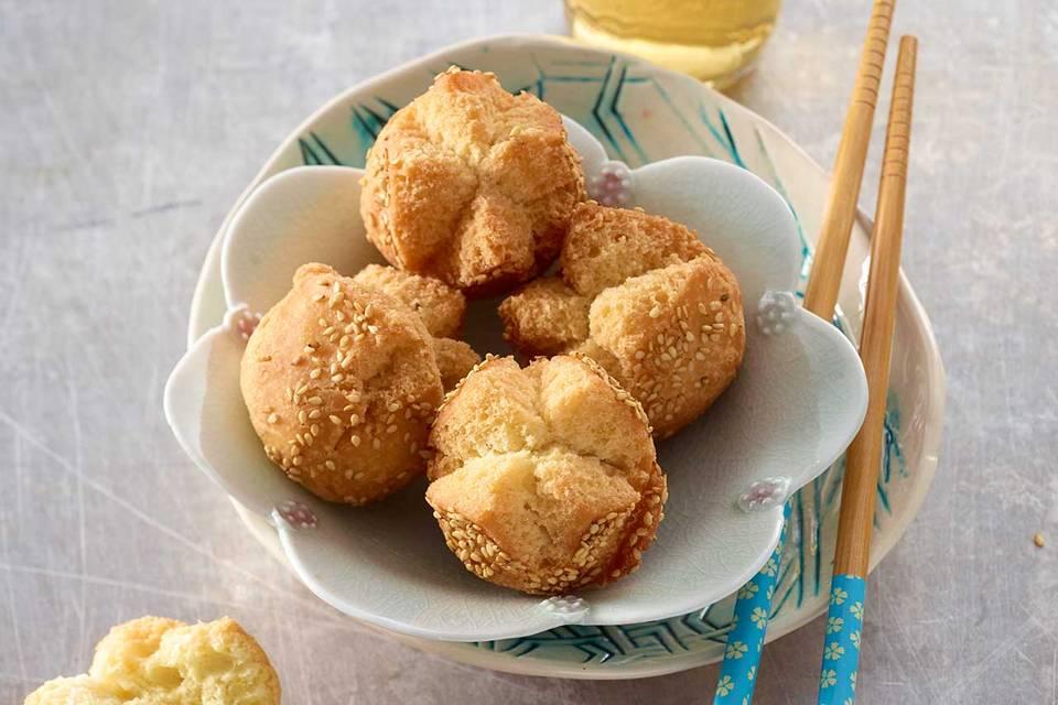 Frittierte Sesambällchen (Banh Cam) Rezept