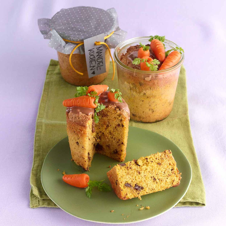 Karotten-Mandel-Kuchen im Glas