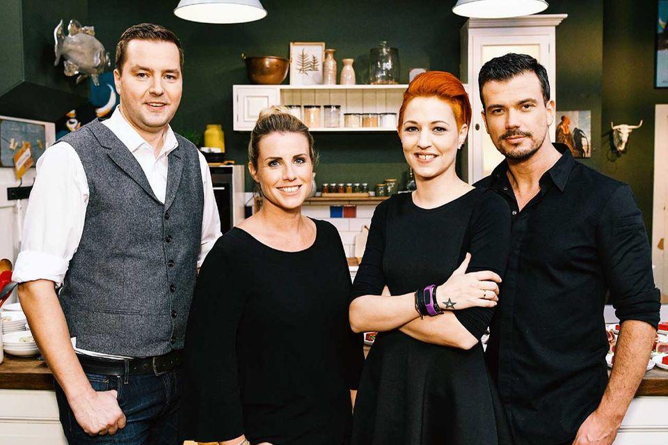 Köche aus der Kochsendung essen&trinken Für jeden Tag: Ronny Loll, Meta Hiltebrand, Andrea Schirmaier-Huber, Ludwig Heer