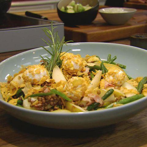 Schneller Birnen-Bohnen-Speck-Salat: Rezept aus der Kochshow essen & trinken Für jeden Tag