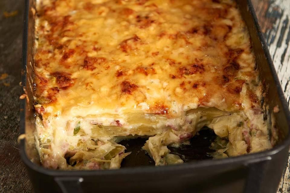 Kartoffel-Lasagne mit Speck Rezept