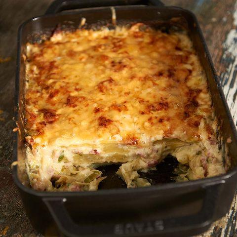 Kartoffel-Lasagne mit Speck