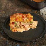 Spargel-Lasagne mit Schinken