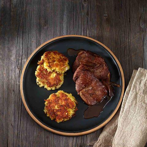 Fenchel-Kartoffel-Rösti mit Rindersteak