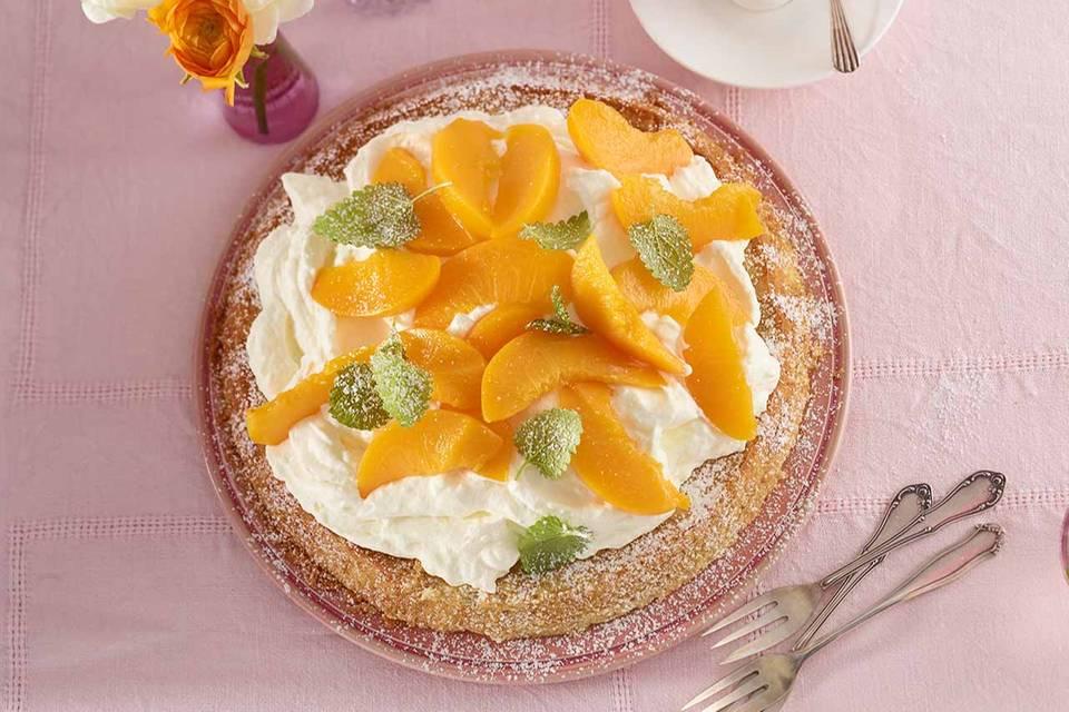 Pfirsich-Wein-Torte Rezept
