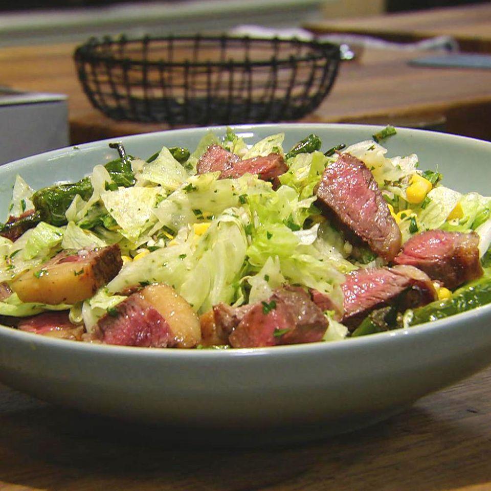 Rindfleischsalat mit Pimientos: Rezept aus der Kochshow essen & trinken Für jeden Tag