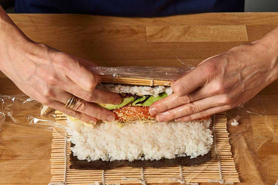 Sushirrito-Zubereitung