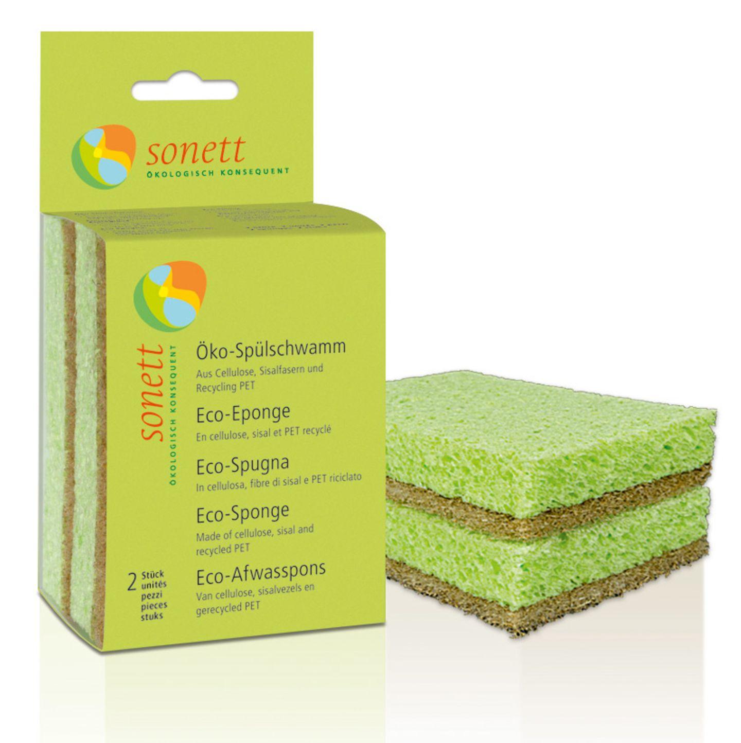 Öko-Spülschwamm, grüner Schwamm, Sonett GmbH, aus Zellulose