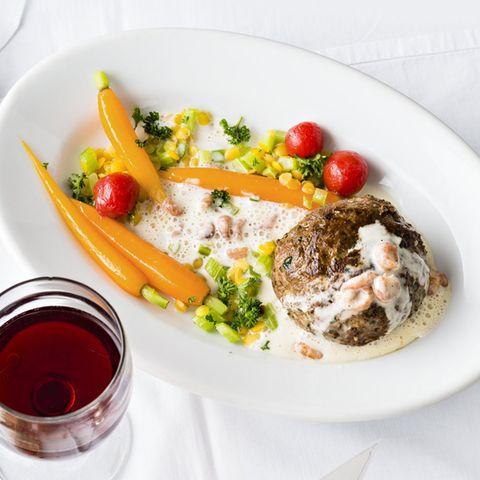 Beefsteak mit Wermut-Krabben-Sauce