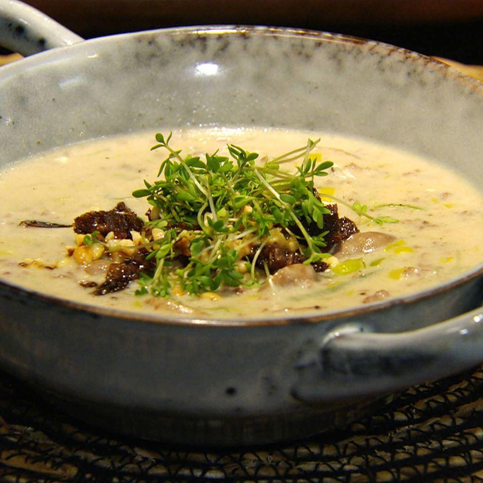 Käse-Lauch-Suppe mit Hack: Käse-Lauch-Suppe mit Hack