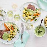 Tafelspitz mit Gemüse und grüner Sauce