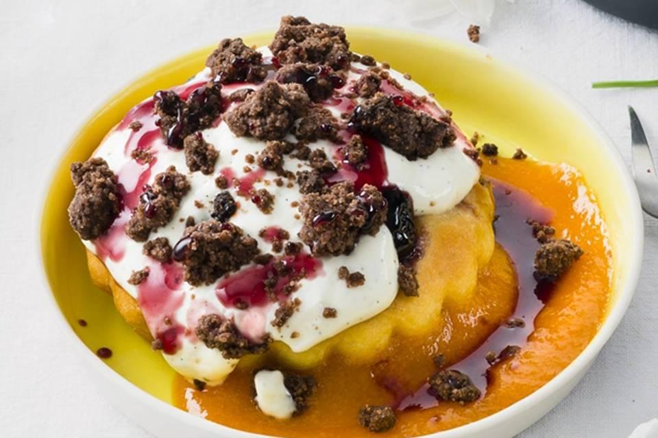 Schmandkuchen mit Aprikosensauce Rezept