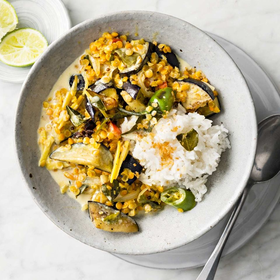 Veganes Linsen-Curry