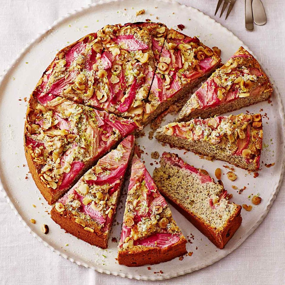 Rhabarber-Mohn-Kuchen
