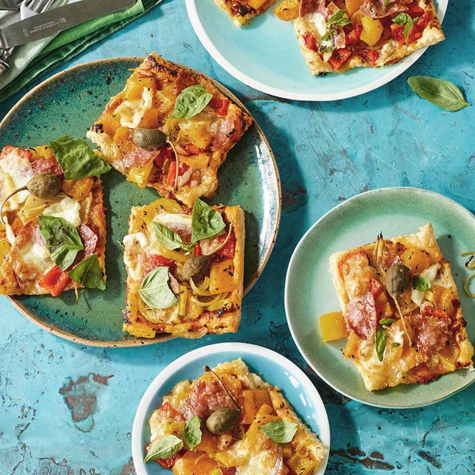 Gemüse-Blätterteig-Pizza