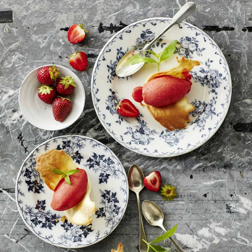 Erdbeer-Aperol-Sorbet