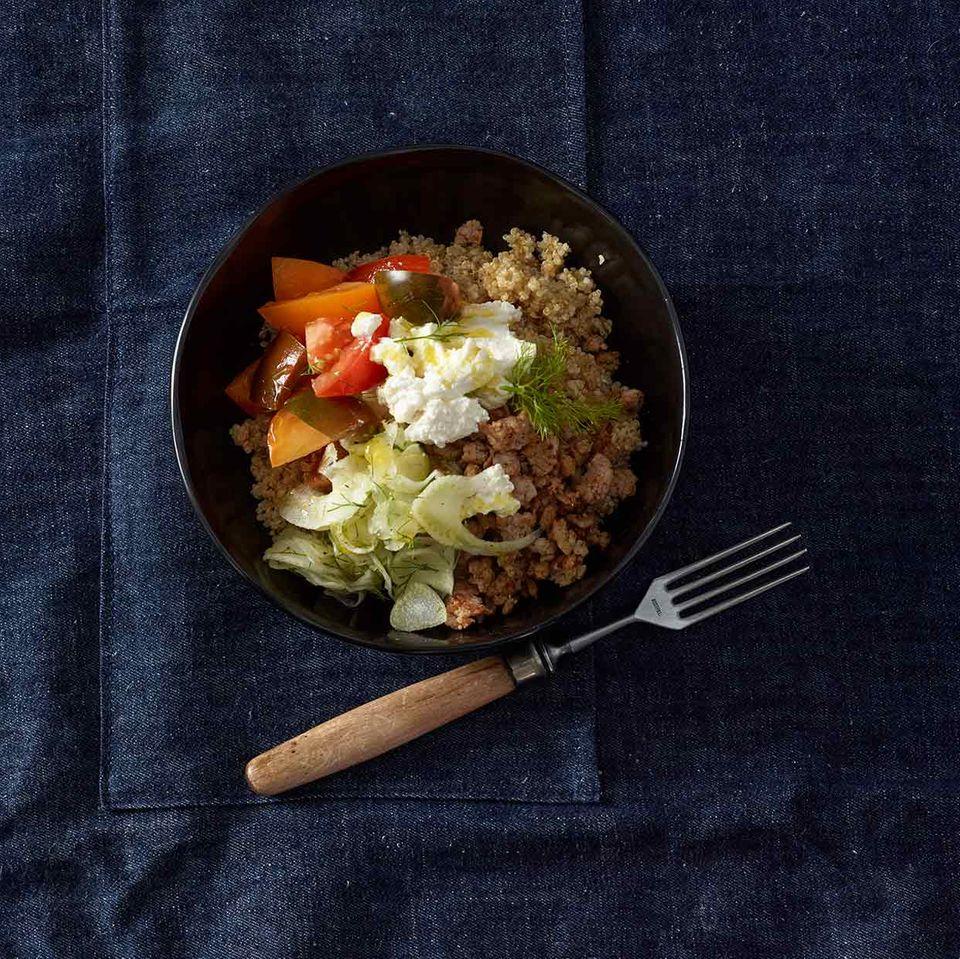 Mediterrane Tomaten-Bowl