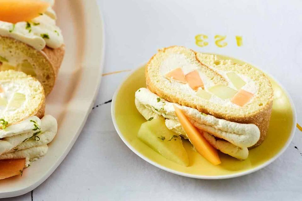 Melonen-Sahne-Rolle Rezept