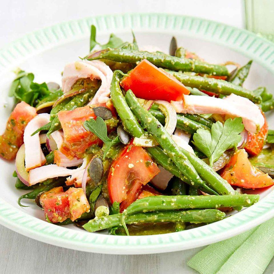 Bohnen-Kasseler-Salat
