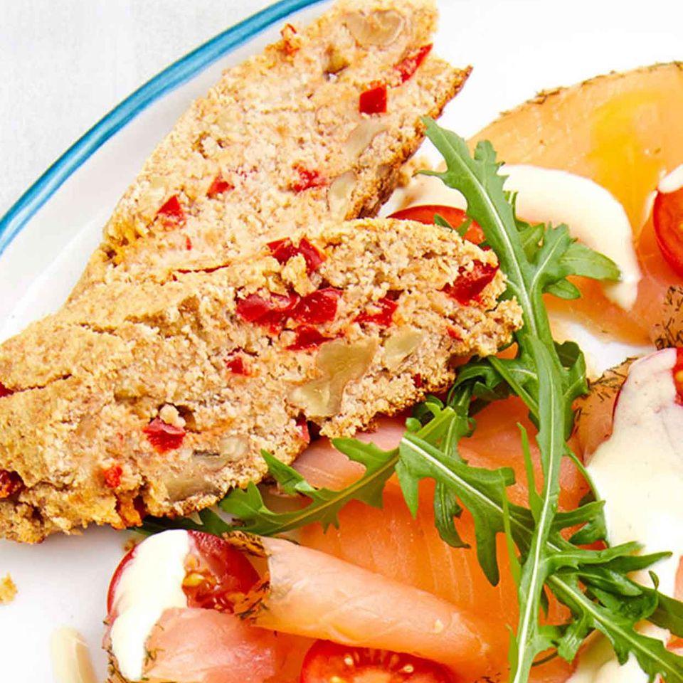 Walnuss-Gemüse-Baguettes
