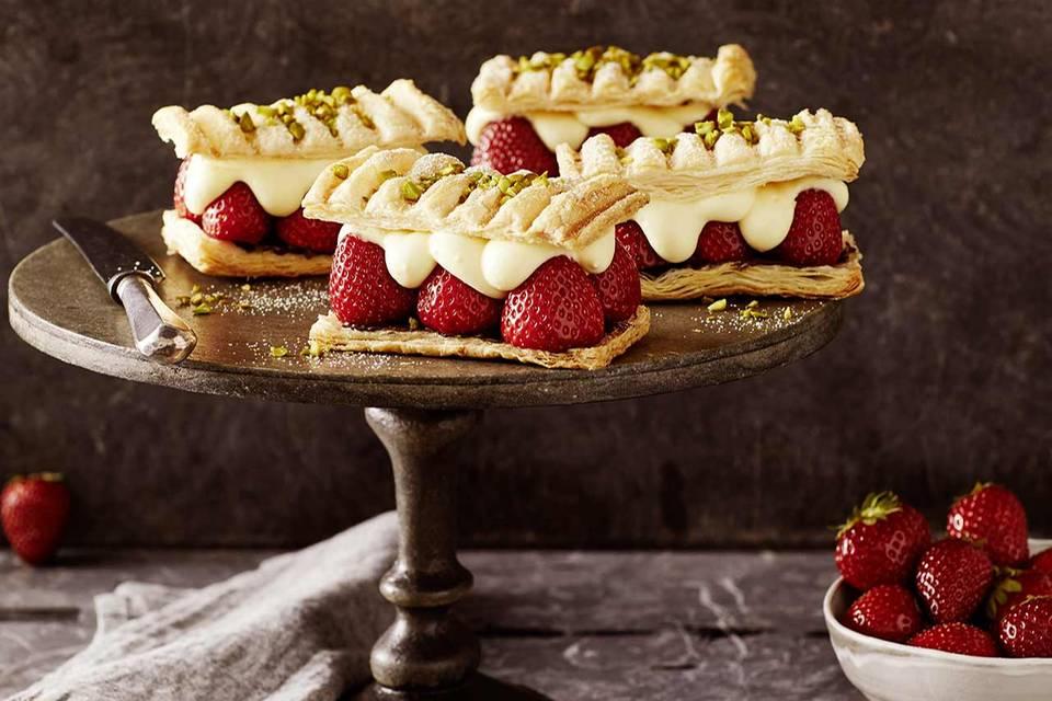 Erdbeer-Napoleons Rezept