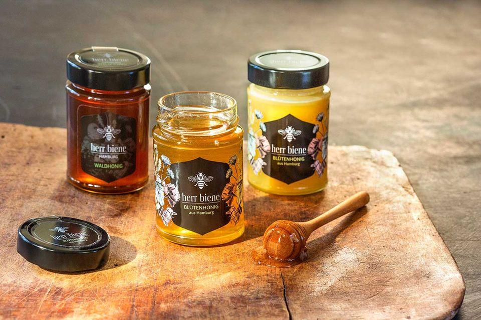 Drei Honigsorten von herr biene