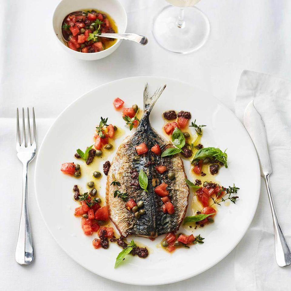 Makrele mit Tomaten-Vinaigrette