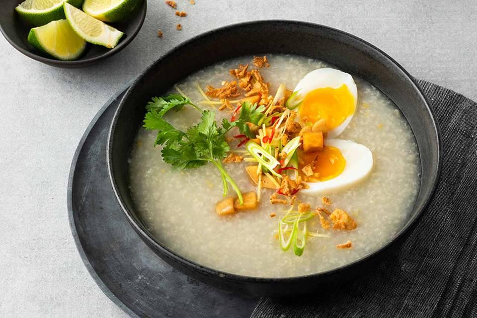 Congee mit Rettich-Pickles Rezept