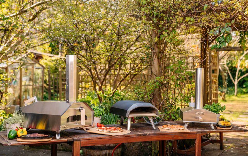 Die drei Outdoor-Pizzaöfen von Ooni