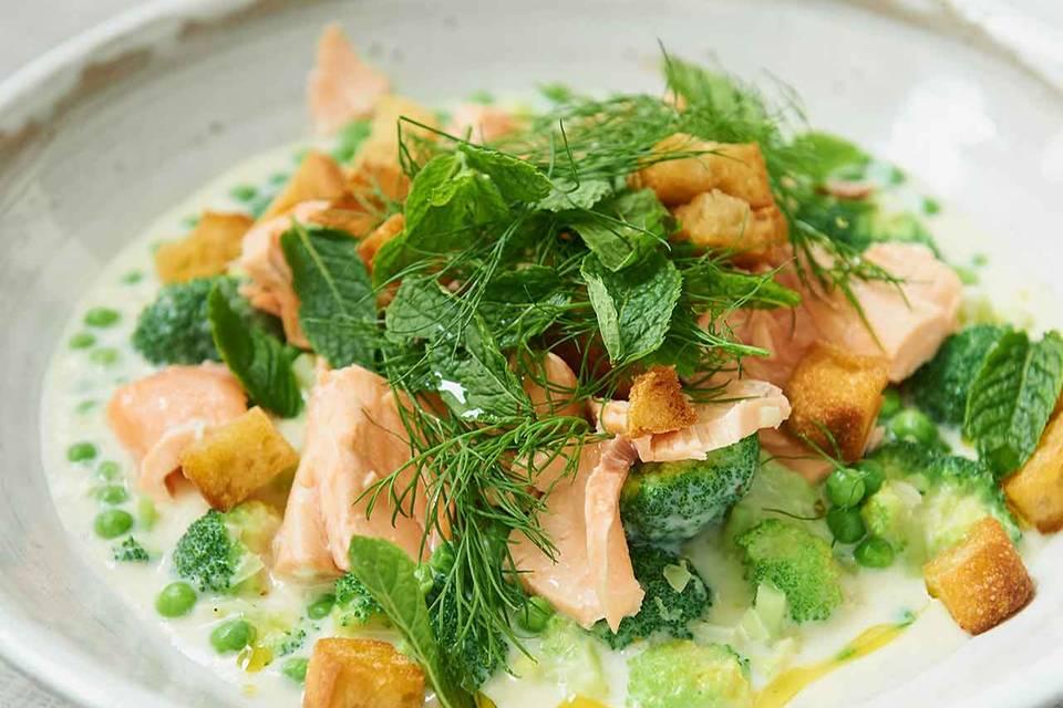 Erbsen-Broccoli-Frikassee Rezept