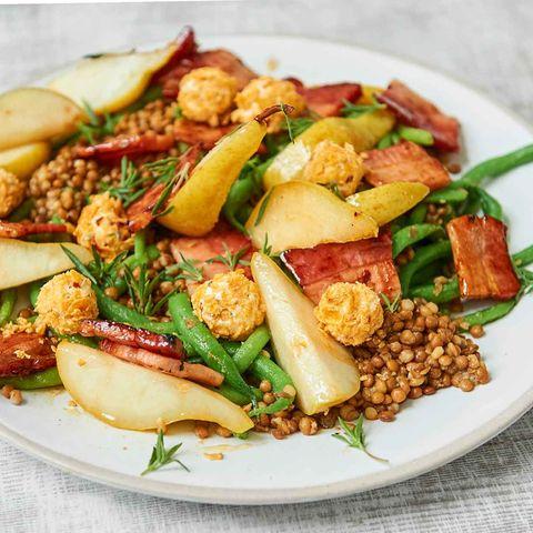 Birnen-Bohnen-Speck-Salat