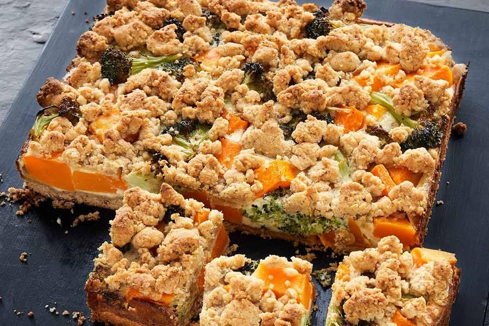 Kürbis-Broccoli-Tarte Rezept