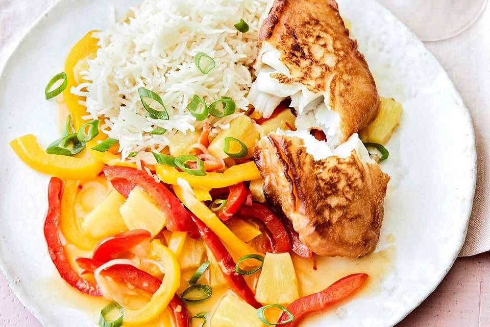 Backfisch mit Asia-Gemüse Rezept