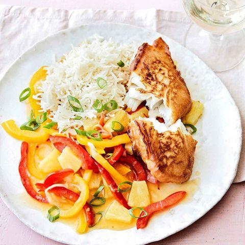 Backfisch mit Asia-Gemüse