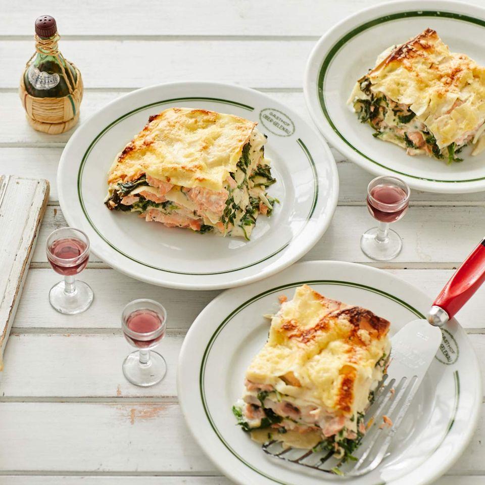 Lachs-Spinat-Lasagne für Thermomix ®