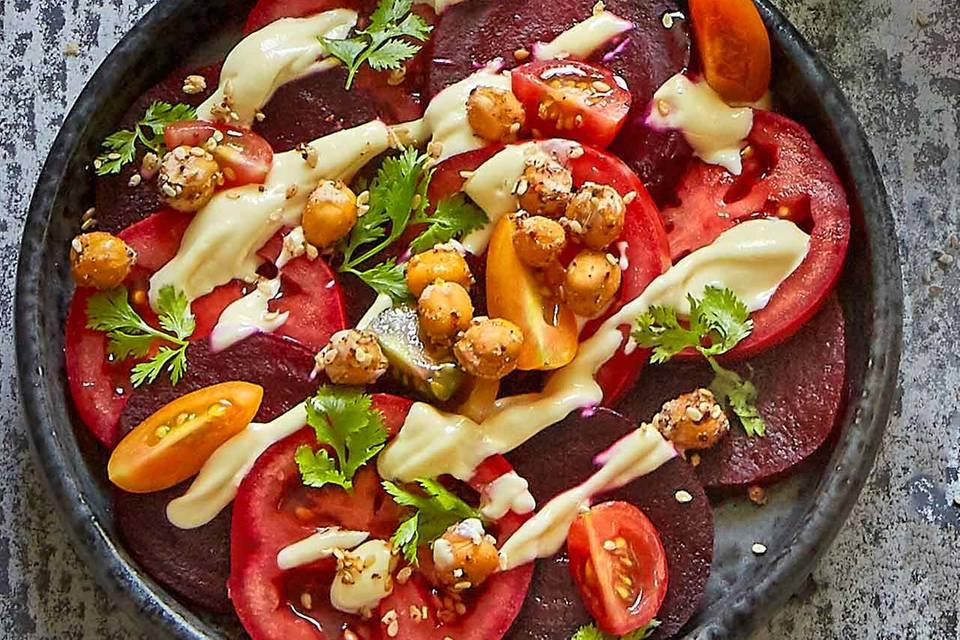 Rote-Bete-Tomaten-Carpaccio Rezept