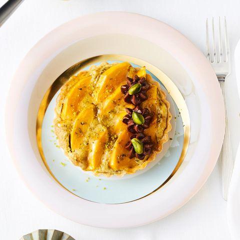 Mango-Tartelettes mit Nussöl-Schoko-Mousse
