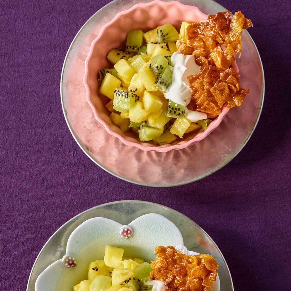 Ananas-Kiwi-Salat
