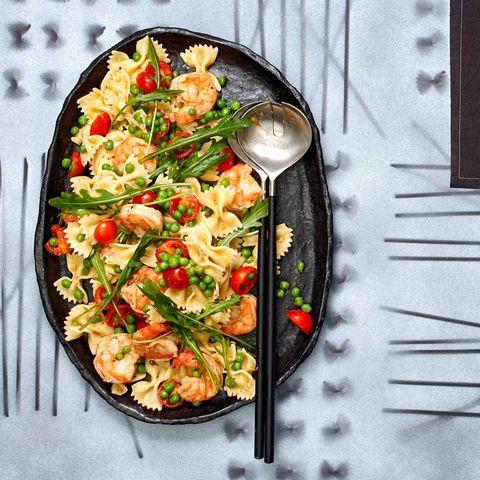 Farfalle-Salat mit Garnelen und Erbsen für Thermomix ®