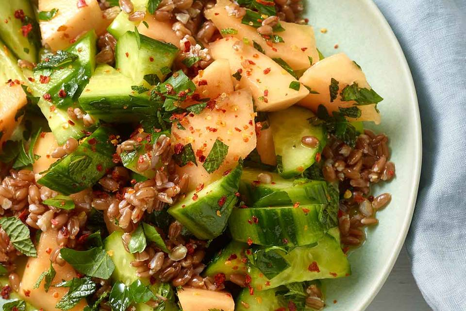 Gurken-Melonen-Salat Rezept
