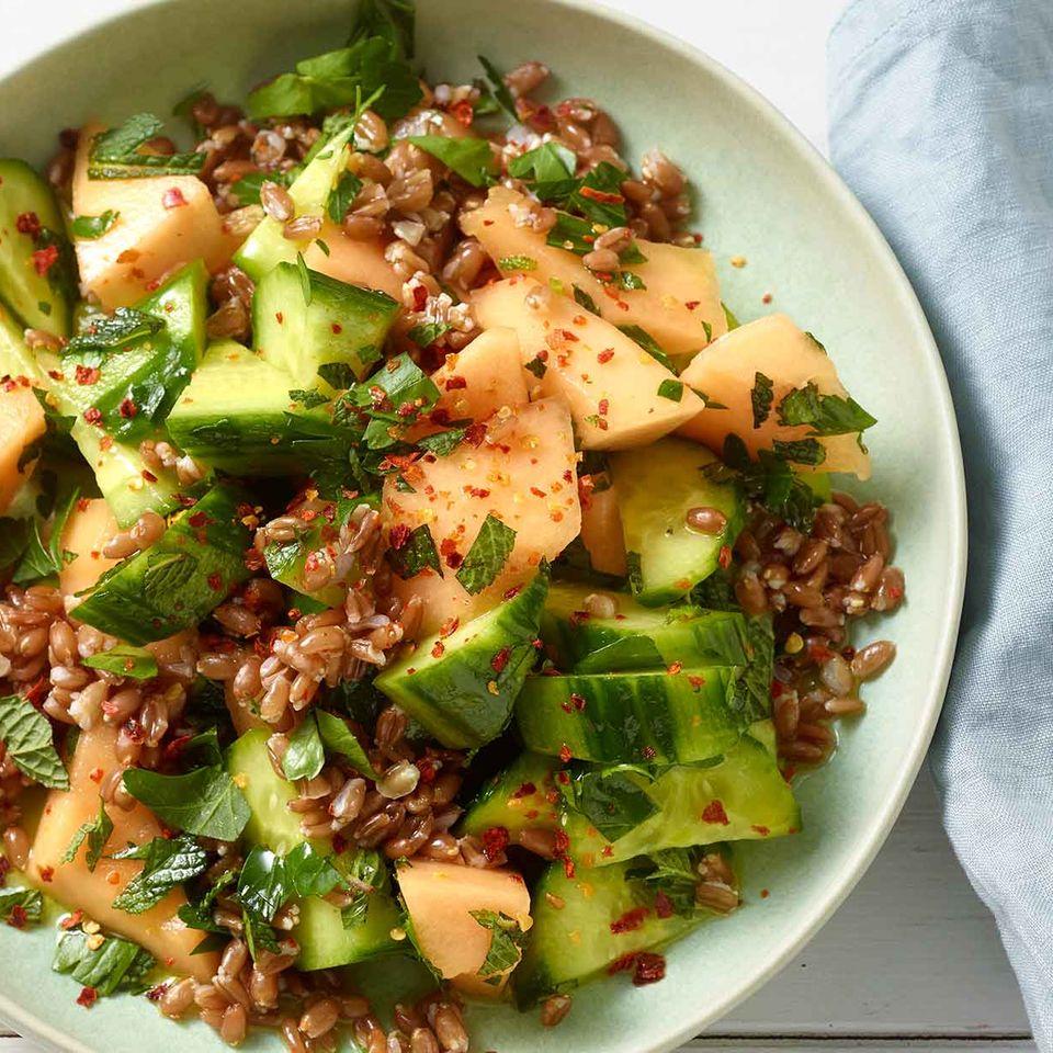 Gurken-Melonen-Salat