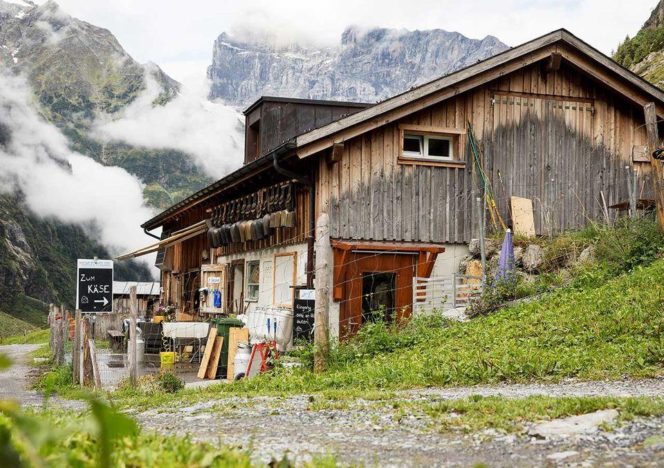 Die Alp Stäfeli oberhalb von Engelberg in der Zentralschweiz