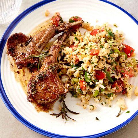 Lammkoteletts mit Blumenkohl-Tabouleh