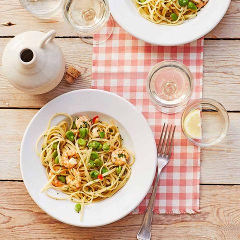 Pasta mit dicken Bohnen und Garnelen für Thermomix ®