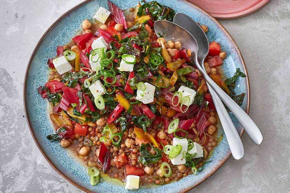 Mangold-Linsen-Salat Rezept