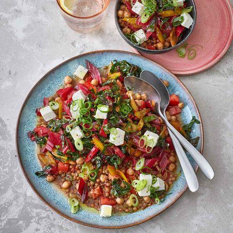 Mangold-Linsen-Salat