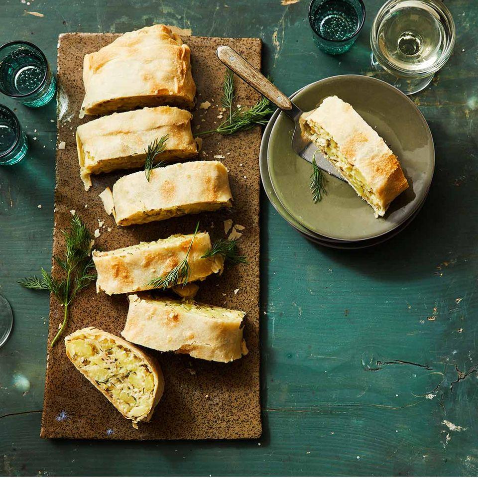 Kartoffel-Räucherfisch-Strudel für Thermomix ®